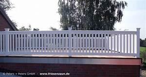 gelander fur balkon garten und terrasse hartholz weiss With garten planen mit geländer für balkon
