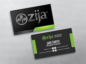 Zija business cards free shipping for Mlm business cards