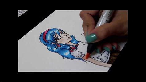 Coloring Manga With Prismacolor Markers Youtube