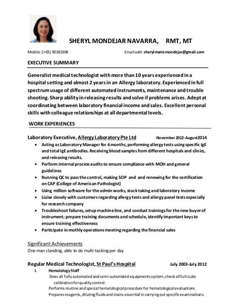 Med Tech Resume Philippines by Curriculum Vitae 1 1 3