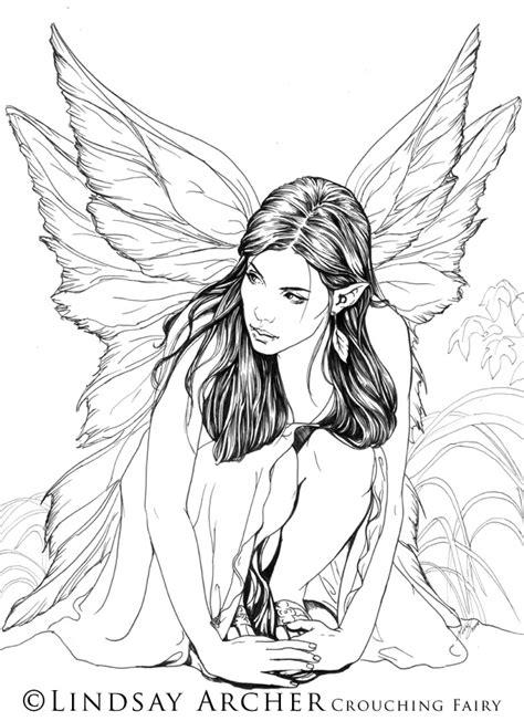 Crouching Fairy by LinzArcher on DeviantArt