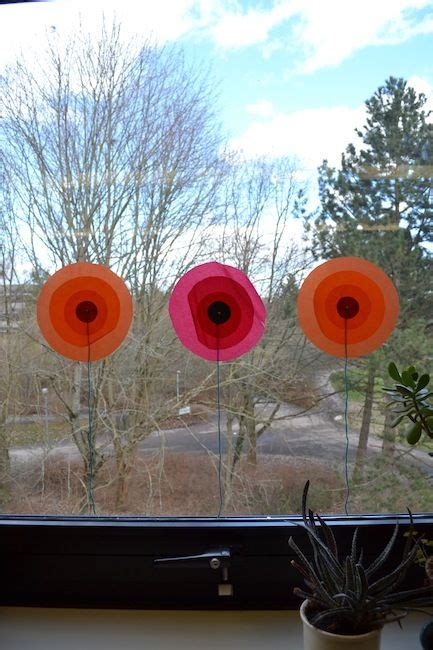 Herbst Girlande Fenster by Fadenspiel Und Fingerwerk Blumen An Die Fenster Basteln