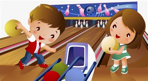 bowling child bowling clipart cartoon illustration png