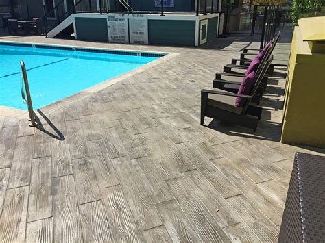 faux wood   pool deck