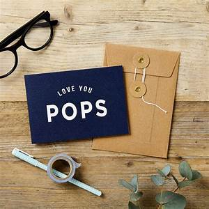 'Love You Pops' Father's Day Card – doodlelove