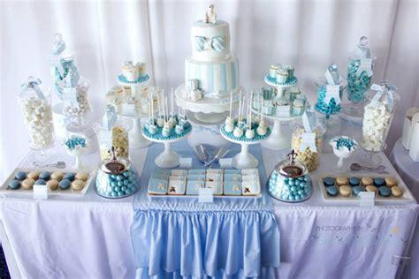 karas party ideas blue christening  birthday party