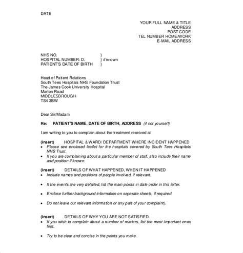 complaint letter template uk planner template