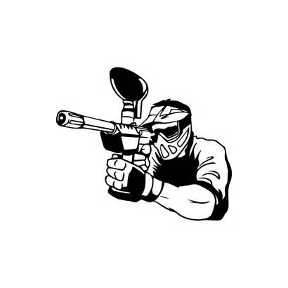 Paintball Pages Decal Coloring Decals Sticker Stickers
