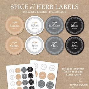 editable spice labels printable diy printable kitchen With kitchen colors with white cabinets with how to print on round sticker labels