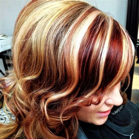 bold highlights  lowlights hair style  color  woman