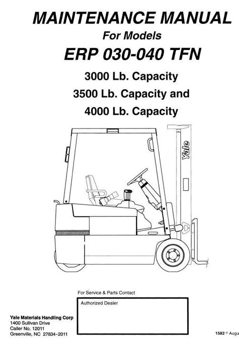 Yale Electric Forklift Truck Erptfn