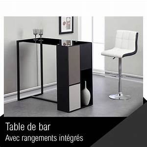 Table De Bar But : mozaic table de bar 120 cm laqu noir verre achat vente mange debout mozaic table de bar ~ Teatrodelosmanantiales.com Idées de Décoration