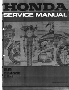 Honda Cb 400f Cb1 1989 Repair Manual Pdf Download