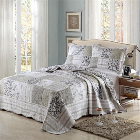 Black Quilts And Coverlets by Luxury 100 Cotton Coverlet Bedspread Set Quilt