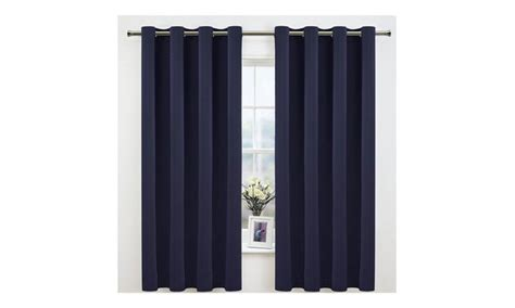 2 Panels Blackout Curtains Drapes Navy Blue Color 63 84 95 Inch Long High Quality Shower Curtains Dropped Ceiling Curtain Track Clips Jcpenney Bedroom Bedrooms With Blue Stripe Fabric Kitchen Window Sets Modern Decor Rod Curved Rotating