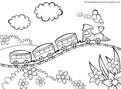 gambar mewarnai kereta api  diy  crafts coloring