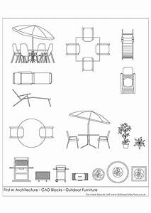 Free CAD Blocks - Outdoor Furniture