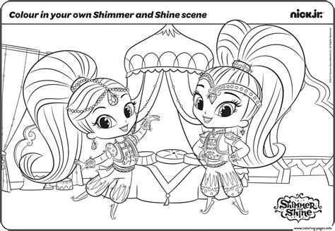 Shimmer And Shine Fun With Colouring Page Coloring Pages
