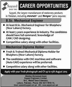 Mechanical Engineering Jobs in Lahore 2014 August at ...