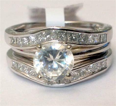 14kt white gold solitaire enhancer diamonds ring guard