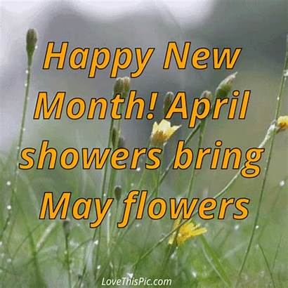 April Month Happy Showers Flowers Bring