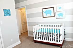 Gray Elephant Nursery by Remodelaholic Grey And White Striped Nursery And Ra 127