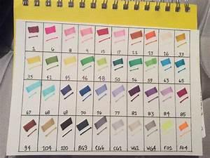 Ohuhu 40 Marker Color Chart Homemade Ohuhu Markers