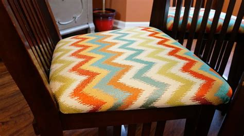 recover chair cushions diy youtube