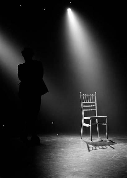 Empty Stage Chair Theatre Lighting Photograph Spotlights