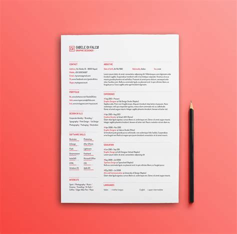 Clean Resume Psd by Best Free Clean Resume Templates In Psd Ai And Word Docx
