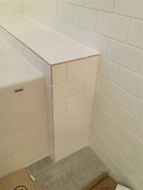 finishing tile edges without bullnose tiling help to finish bathroon 8933
