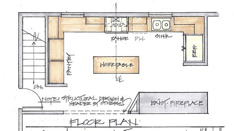 kitchen island plan a floor plan is the most important factor in a remodel 1980