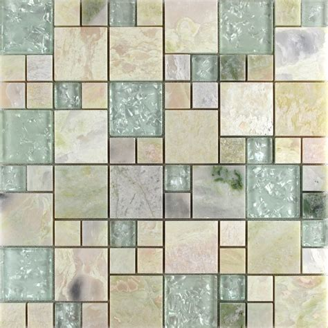 wholesale grey stone  white crystal mosaic tile sheet square backsplash  wall stickers