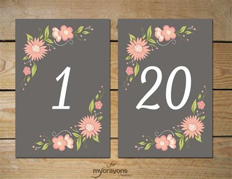 elegant printable table numbers kitty baby love