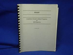 Eesof Installation Guide Dos Systems