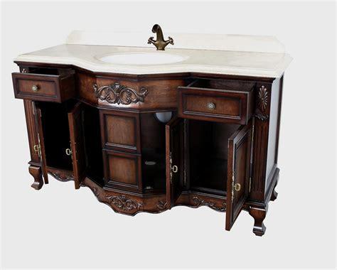 60 vanity single sink montage antique style bathroom vanity single sink 60 quot