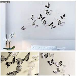 Pcs lot creative d butterfly stickers pvc