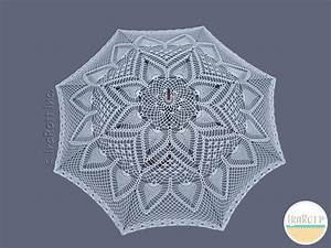 Pineapple Lace Parasol Pdf Crochet Pattern