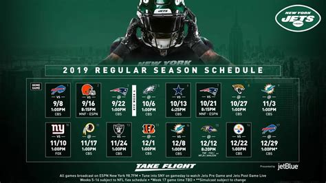 york jets  schedule  metlife stadium