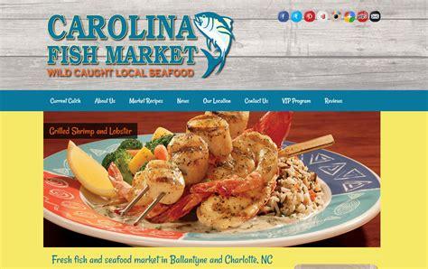 market website carolina fish market website design firepoint media