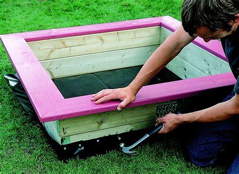 build  wooden sandpit ideas advice diy  bq