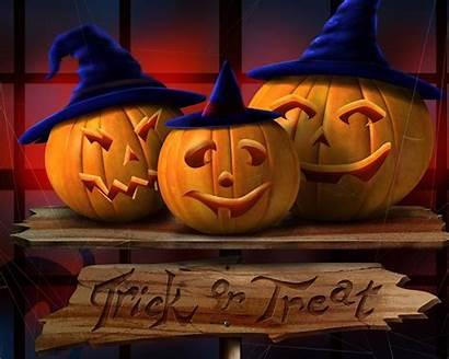 Halloween Pumpkin Trick Happy Backgrounds Treat Wallpapers