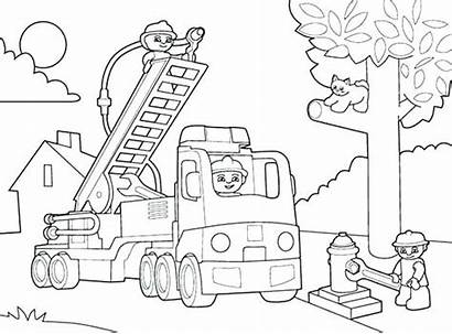 Coloring Construction Pages Site Equipment Lego Getcolorings