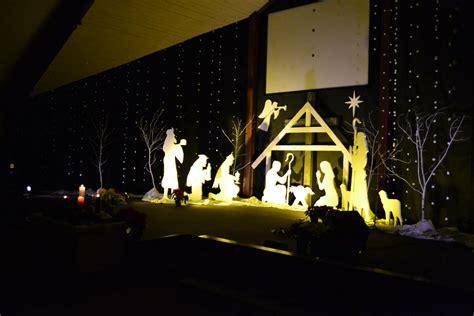 styrofoam manger scene church stage design ideas