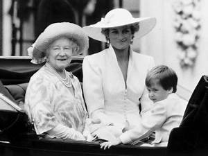 Queen Mother with Princess Diana and Prince William in an ...