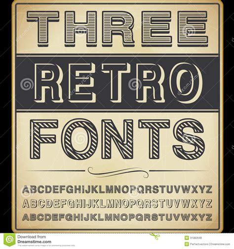 three vintage fonts royalty free stock photos image 31082648
