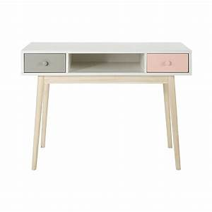 Maison Du Monde Bureau Fille : bureau en bois blanc l 110 cm blush maisons du monde ~ Melissatoandfro.com Idées de Décoration