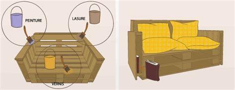 fabriquer un canapé en bois fabriquer un canapé en palette canapé
