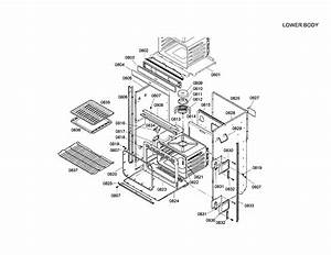 Bosch Wall Oven Lower Door Parts