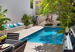 small patio swimming pool ideas with outdoor dining room